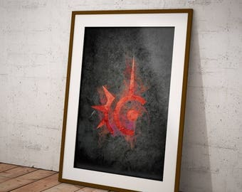 Final Fantasy XIV Red Mage Soul Icon Poster