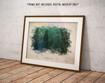 Bioshock - Rapture Abstract Watercolor Poster