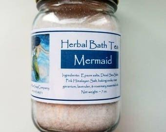 Mermaid Herbal Bath Tea, Herbal Bath Tea, Bath Tea, Herbal Bath Salts, Bath Salts, Mermaid
