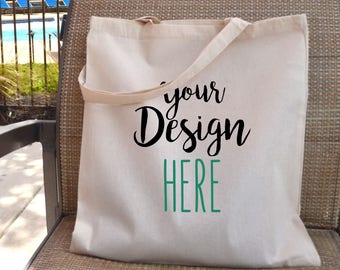 Custom 6 oz Tote bags - Reusable canvas tote bag - Custom wedding totes - Custom design -  Promotional Gift Bags - Custom canvas tote.