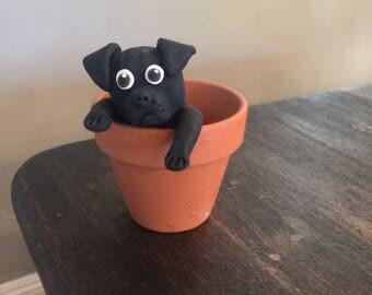 Pug Yard Art Etsy