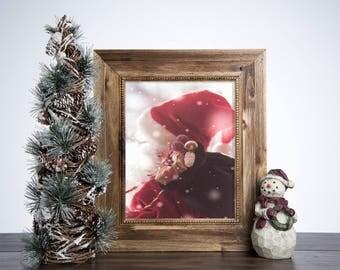 Vintage Decor Holiday Santa Christmas Decoration Rustic