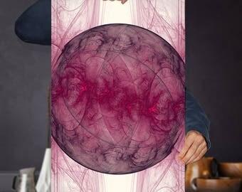 Science Art Printable - Fractal Art - Planet Art - Galaxy Art - Sound Wave Art - Dimensional Wall Art - Cosmic Vibrations