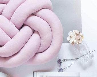 Blush Pink knot pillow , cloud pillow , knot cushion , minimalist pillow , trendy design , modern decorative pillow , kids decor