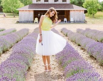 Ivory tulle skirt; Womens tulle skirt; Adult tutu skirt; White tulle skirt; Bridesmaids dress; White tutu; Tulle skirt; Bridesmaids skirt