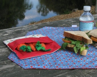 Sandwich Wrapper & Snack Bag in two sizes PDF Sewing Pattern (SMS103pdf)