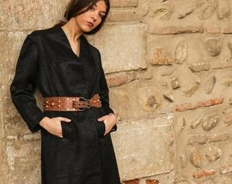 années 1920 français brocart soyeux manteau Flapper / / swing coat / / kimono en soie des années 1920