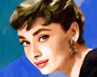 Audrey Hepburn Art Audrey Hepburn Audrey Hepburn print hepburn poster wall art audrey audrey hepburn quote audrey poster art hepburn poster