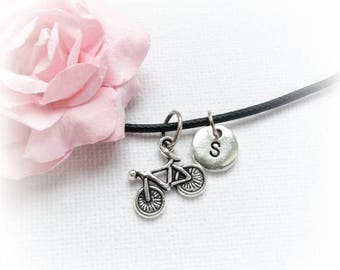 VACATION SALE Bicycle Necklace, bike necklace, bicycle Jewellery, bicycle Charm Jewelry,Personalised jewelry, initial necklace, handmade nec