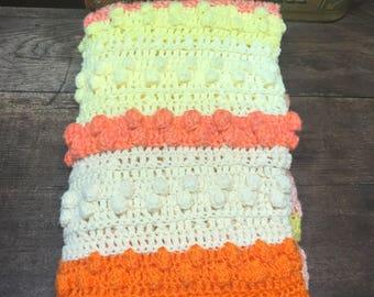 Vintage Afghan Blanket Throw Baby Blanket Lap Blanket Crochet