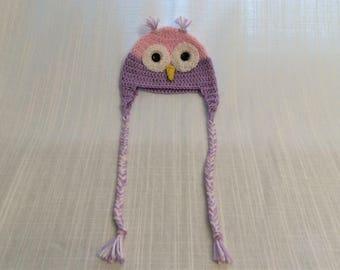 Crotchet girl owl hat
