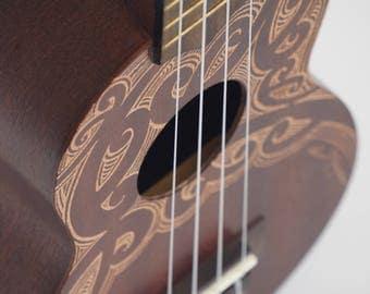 Hand-carved Ukulele (Soprano)