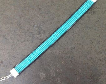 Turquoise woven bracelet