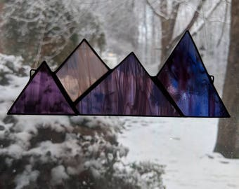 Stained Glass Mountain Range