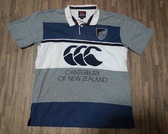 Vtg 1990s canterbury of new zealand  polos shirt size M