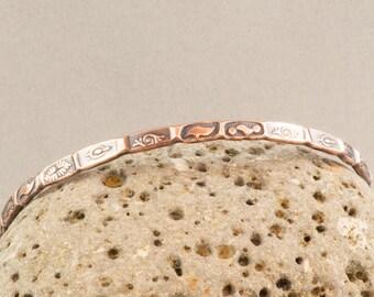 Stacking Bangle, Copper Bangle, Copper Bracelet, Stackable Bangle, Copper Stacking Bangle, Hammered Copper, Stamped Bangle, Bangle Bracelet