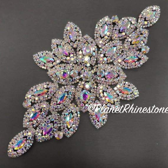 AB Large Rhinestone Applique #A-02