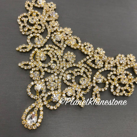 Gold Rhinestone Applique #A-03