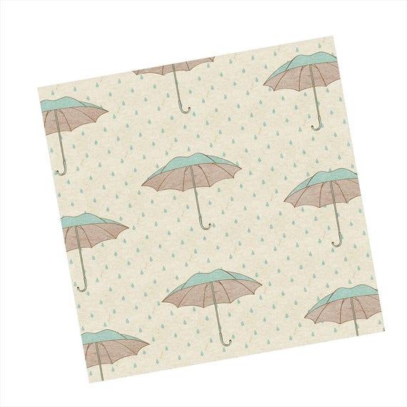 Shower Napkins Party Paper Umbrellas Rain