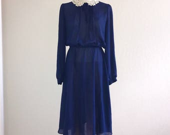 80's Vintage Victorian Style Dress-Jonathan Martin