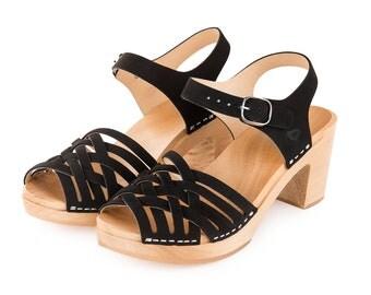 Wooden Clog | Sandal | Shoes | Clog sandals | swedish clogs | wooden clogs | Kulikstyle | Sweden clog | clog sandal | BLACK