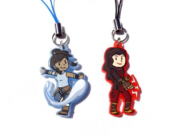 Korra and Asami Acrylic Charms - The Legend of Korra