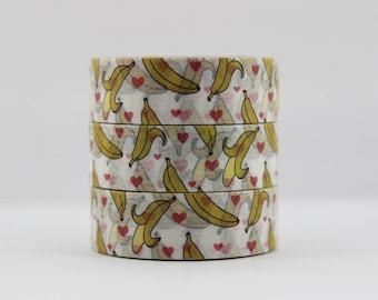 Washi tape banana fruit heart masking tape
