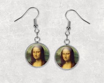 Mona Lisa, 12 Dangle Earrings, Mona Lisa Jewelry, Fine Art, Leonardo da Vinci, Da Vinci, Mona Lisa Earrings