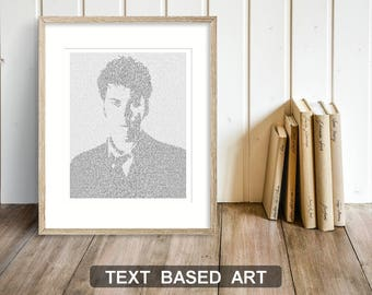Dr Who Text Art, The Tenth Doctor Who Wall Art, David Tennant Whovian Gift for Men, Sci Fi Print (US)