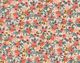 Rosa Peach from Les Fleurs by Rifle Paper Co for Cotton + Steel
