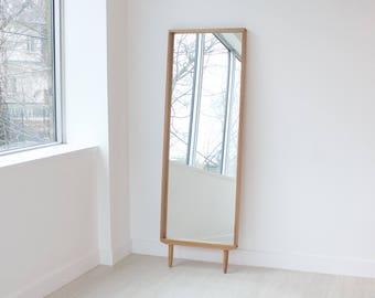 Modern Oak Floor Mirror | Leaning Mirror