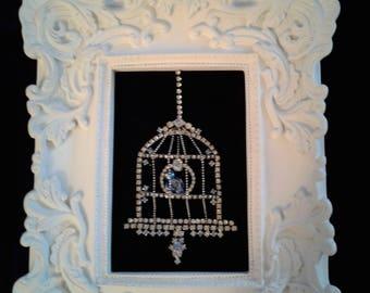 Bluebird of Happiness Framed jewelry Art