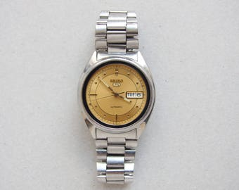 Vintage Japan Seiko Automatic 21 Jewels Mens Watch, 7S26A Date/Date