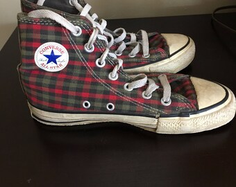 Vintage 1992 Plaid Chuck Taylor High Top Converse All Stars USA
