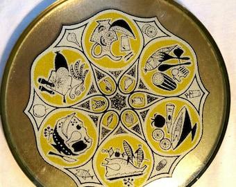 Mid Century round serving platter