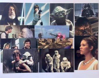 Star Wars Postcards, Vintage, Darth Vader, Princess Leia, Yoda, Chewbacca, Hans Solo, Set of 12 Vintage Movie Post Cards, Set 001, 1997