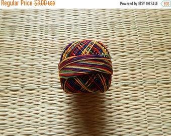 10% OFF Multicoloured Crochet Yarn, Mercerized Cotton Yarn, Knitting Yarn, Embroidery Yarn, Cotton Crochet Yarn - 120 Yards