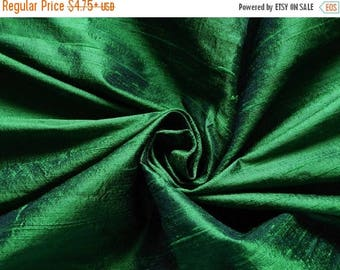5% off Pure Silk Fabric, Pure Dupioni Silk Fabric, Silk Fabric, Indian Silk Fabric, Green Silk Fabric