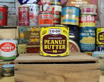 vintage Co-oP 48oz PEANUT BUTTER tin advertising can