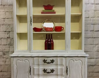french provincial kitchen cabinet