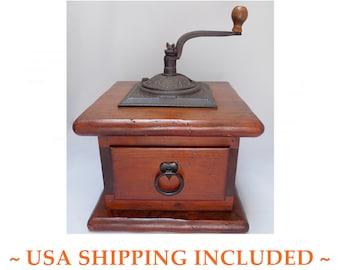 Vintage American Coffee Grinder Jumbo Sized Kennedy Bros. Vermont