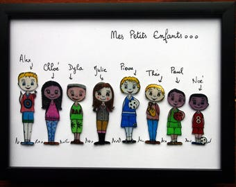 "Customizable family ""the perlinpinpot's"" frame"