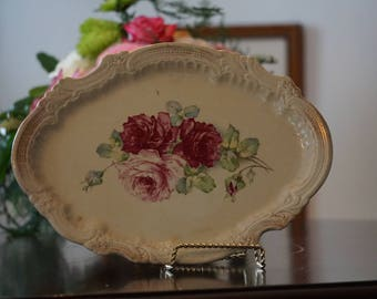 Wheeling Pottery LaBelle/ Garden Roses/ Ironstone/ Shabby Chic/ Cottage Decor/ Wedding Decor