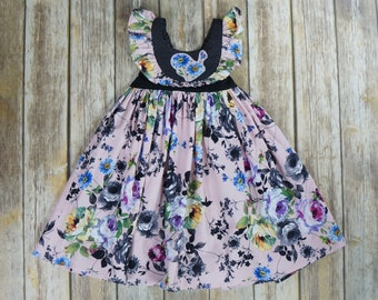 Autumn Girl's Dress/Layering Dress/Floral Dress