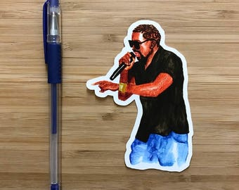 Kanye West Vinyl Sticker, Kanye Decal, Kanye and Kim, Taylor Swift, Kanye West Party, Kanye West Birthday, Rap Music, Notebook Stickers
