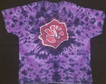 grateful dead rose and bolt tie dye