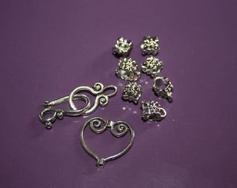 SET OF 9 METAL FOR JEWELRY ACCESSORIES