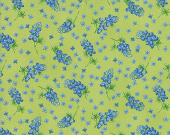 Moda Wildflowers VIII Quilt Fabric 1/2 Yard Grass 33221 13