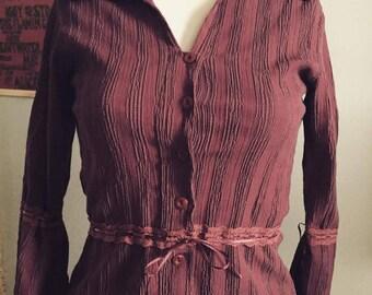 vintage delicate Turkish button down blouse