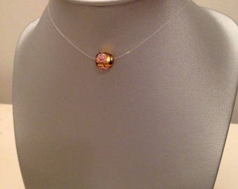 Murano glass bead Choker necklace in nylon thread